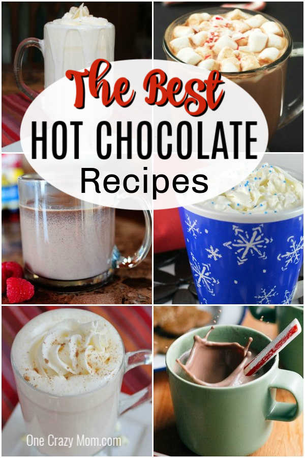 Try these easy hot chocolate recipes for an amazing treat everyone will love. 20 of the best hot cocoa recipes. Hot chocolate mix recipes that are amazing!