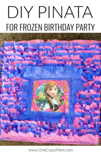 Learn how to make a pinata for under $5! Find frozen birthday party ideas that are easy and budget friendly. How to make a Frozen Birthday Party Pinata.