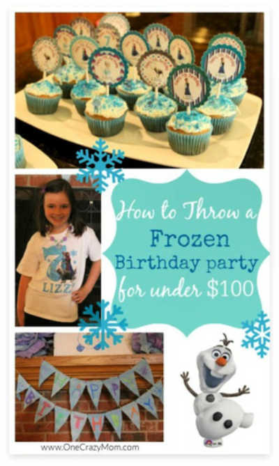 Throw a fabulous party on a budget with these FROZEN BIRTHDAY PARTY IDEAS.  Find lots of frozen birthday party ideas on a budget.