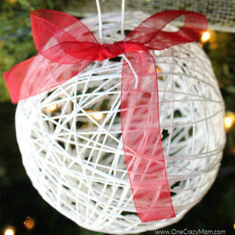 12 Days of Homemade Christmas Ornaments (Day 7) – Dollar Store String Ornament