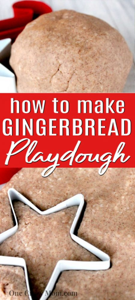 Learn how to make gingerbread playdough with just a few minutes and a few easy ingredients. Our kids loved to play with it and it smells amazing!