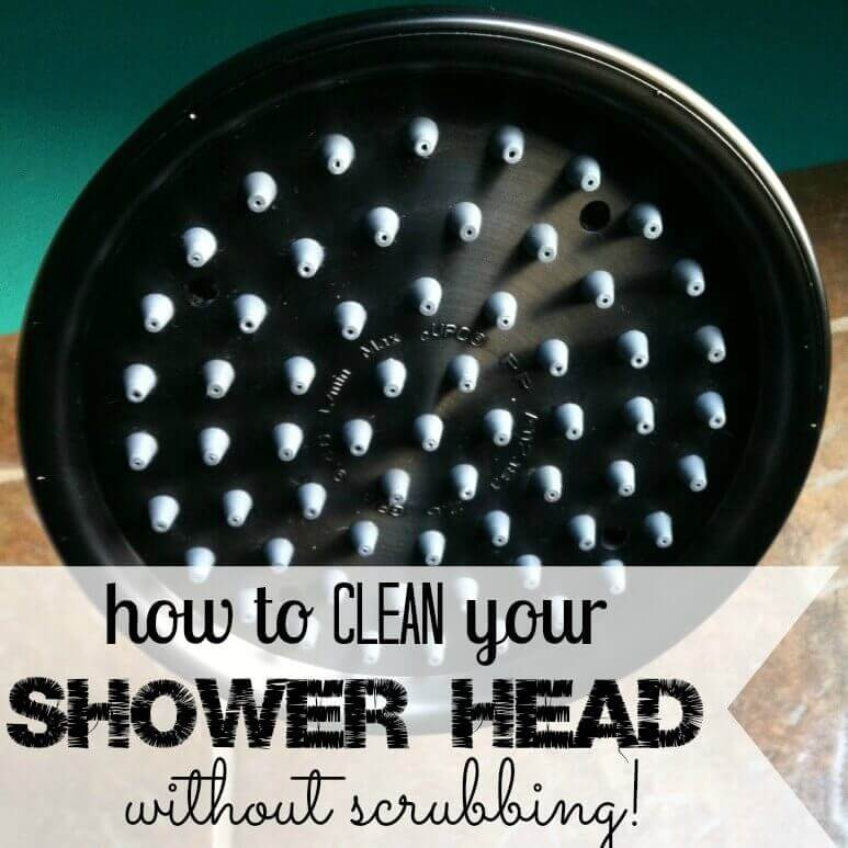 how to clean shower head - it isn't as bad as you might think to do. With just a few items, you can have a clean shower head! Learn how to clean your shower head. How to clean a shower head quickly and without scrubbing!