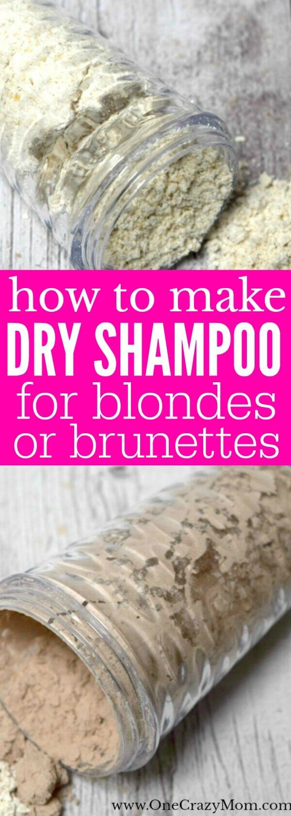 Whether you are blonde or brunette, we have the perfect DIY Dry Shampoo for you to try. Don't pay too much for dry shampoo when you can make homemade dry shampoo. Learn how to make dry shampoo and save time and money!