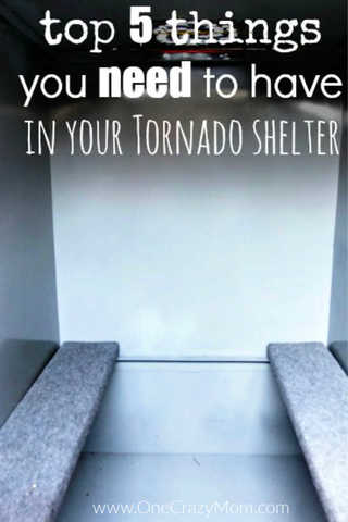 Learn what to put in a storm shelter so that you and your family will be prepared.  We have the top 5 shelter items you need to have in your tornado shelter.