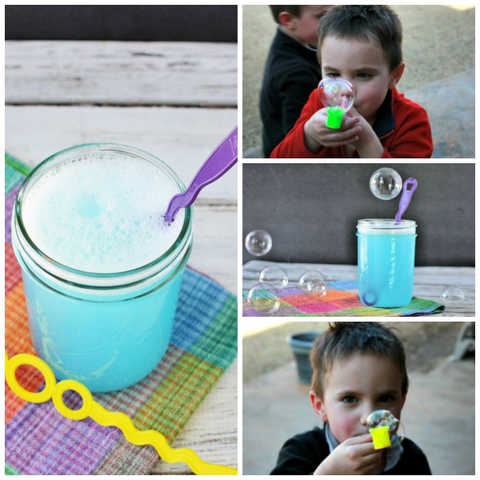 Learn how to make homemade bubbles solution for your kids they will love. It is so easy and frugal to make homemade bubbles and your kids will have a blast.