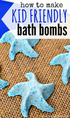 See how we made these cute starfish bath bombs with this easy Bath Bomb Recipe. DIY bath bombs are so easy that anyone can make homemade bath bombs. Learn how to make bath bombs. You can easily make your own bath bomb.