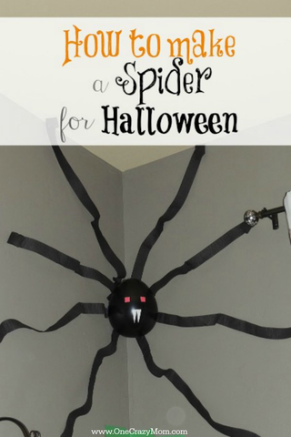 How To Make A Spider Quick And Easy Giant Spider Decoration