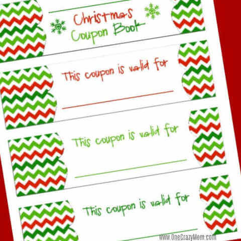 FREE Christmas Coupon Book Printable – Homemade Gift idea