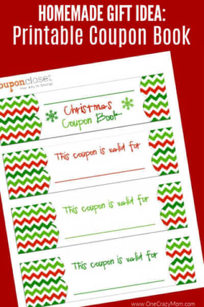Free Christmas Coupon Book Printable Homemade Christmas Coupons