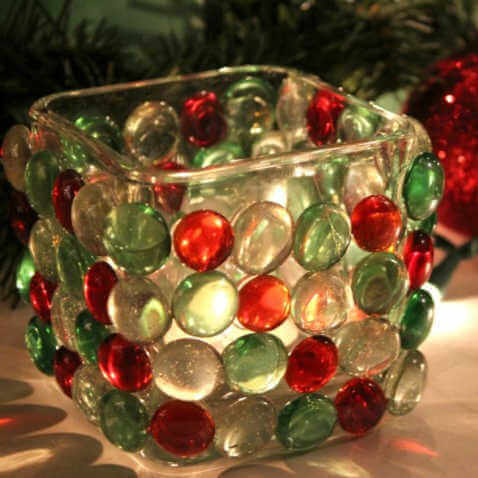 looking to jazz up your holiday decor on a budget try this diy dollar store - Christmas Candle Holders Decorations