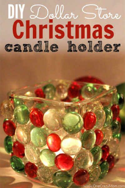 Diy Dollar Store Christmas Candle Holder Dollar Store