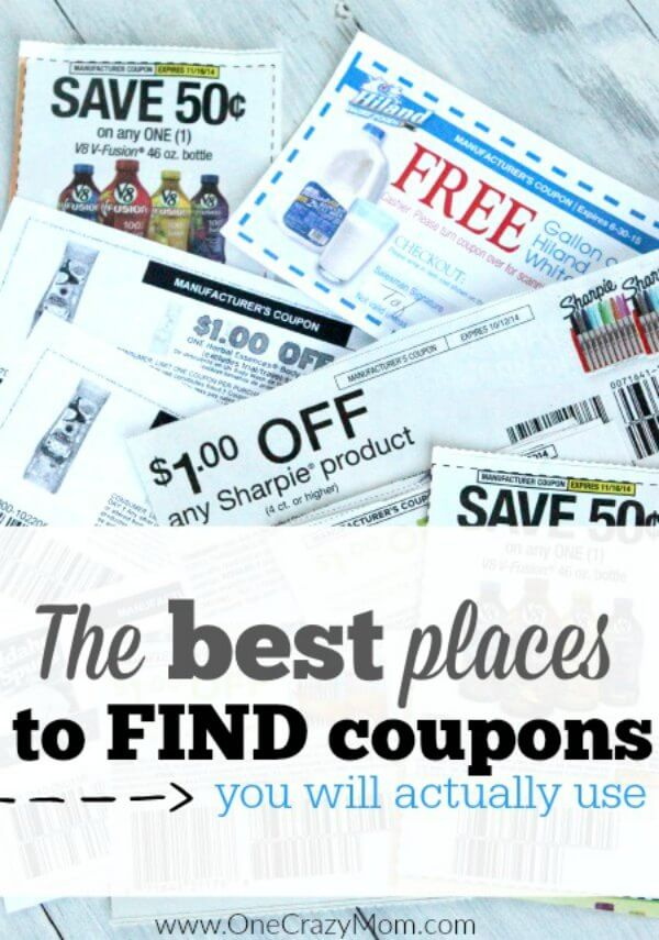 Find out where to get coupons! You will be on your way to save money! The best place to get coupons. Here are the top 6 Best Places to Find Coupons that you will actually use to save money!
