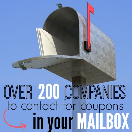 Companies to Contact for more coupons
