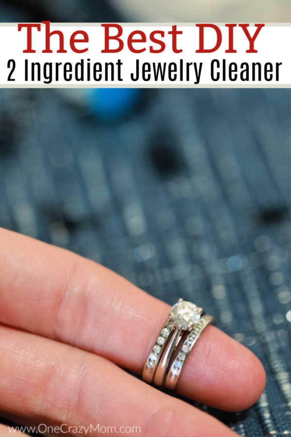 Learn how to make homemade jewelry cleaner with just 2 simple ingredients. No need to spend tons of money on fancy cleaners when you can make this at home.