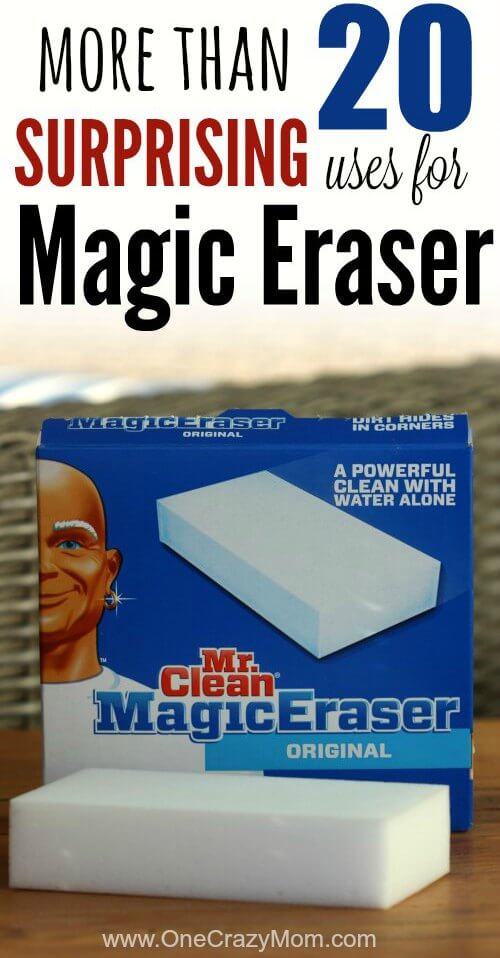 Check out these Mr. Clean Magic Eraser uses for the entire house. Some of them might surprise you. Magic Erasers gets so many different things clean.