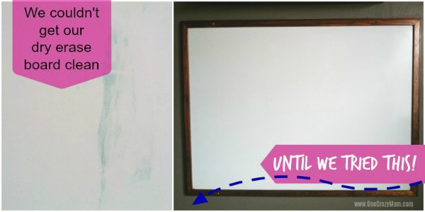 How to Clean a Dry Erase Board - 2 easy methods to easily get your dry erase board clean! You probably already have these items in your house. Once you know to clean dry erase board, it's so easy and budget friendly.
