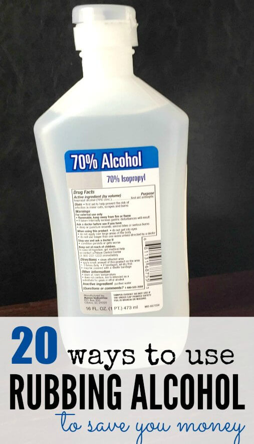Here are some common Rubbing Alcohol Uses to help you save money. I think you will be surprised with these Rubbing Alcohol Uses. 20 ways to use rubbing alcohol that will save you time and money!