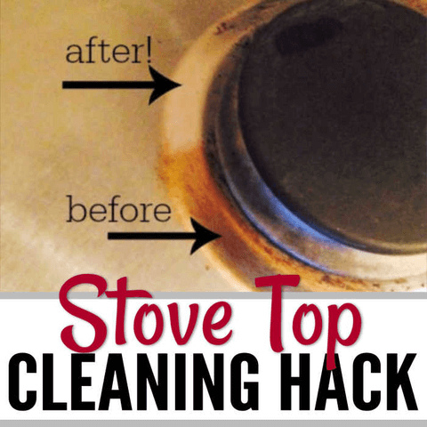 Learn how to clean stove top in just minutes with very little work. This trick is frugal and so easy. Your stove will sparkle in under 5 minutes.