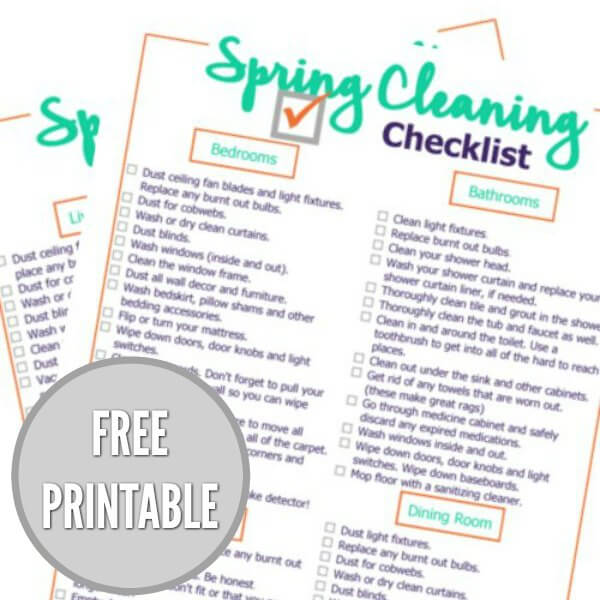 photograph regarding Spring Cleaning Checklist Printable named Spring Cleansing Listing - No cost Spring cCeaning Listing