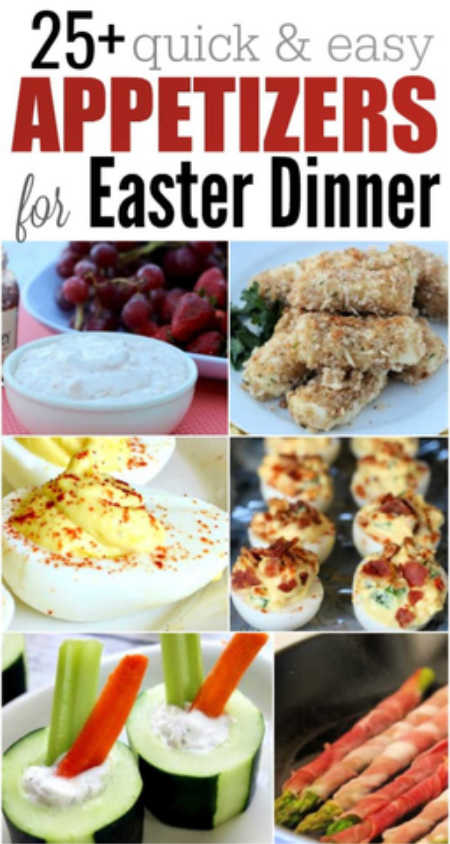 We have 25+ Quick and Easy Easter Appetizers that are simple to make and sure to be a hit. These recipes are budget friendly and easy to put together.