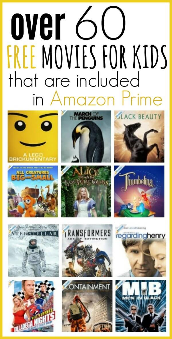 Here is the list of the best free amazon prime movies for kids - With amazon prime you can watch a ton of good amazon prime free movies for kids. We have compiled a list of the best kids movies on amazon prime. Free kids movies. 60 amazon prime free movies!