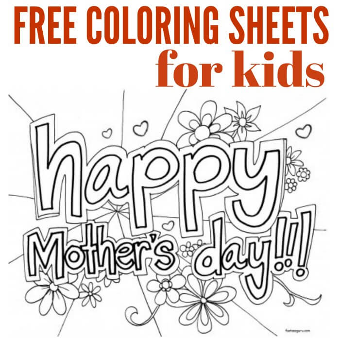 Free Mothers day coloring pages Mothers Day coloring sheets