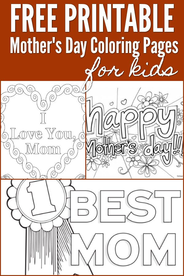 Free Mother 39 s day coloring pages