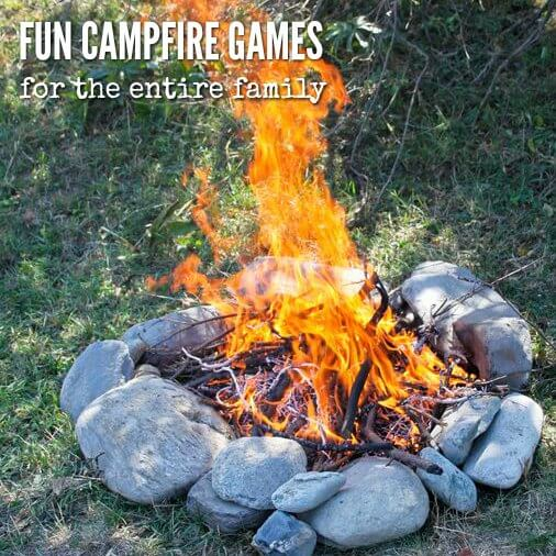 Here are some fun campfire games to play with the entire family. These bonfire games and fun camping games for families are free and fun for all ages.