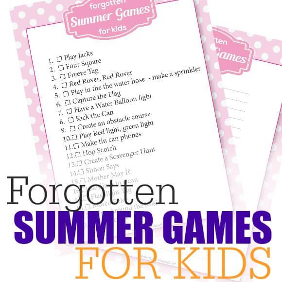 20 Forgotten Summer Games for Kids