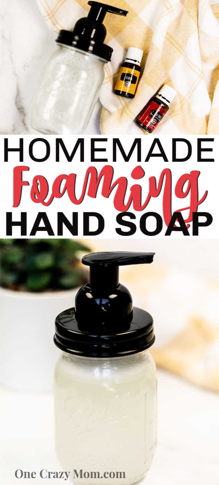 DIY foaming hand soap is actually very easy to make and you only need a few simple ingredients. Make this at home and let the kids help for a great DIY.