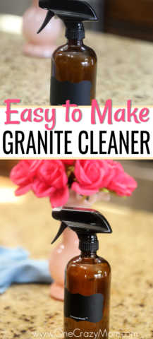 How to clean granite countertops easily with this Homemade Granite Cleaner. DIY granite cleane is easy and much cheaper than store bought granite cleaners.