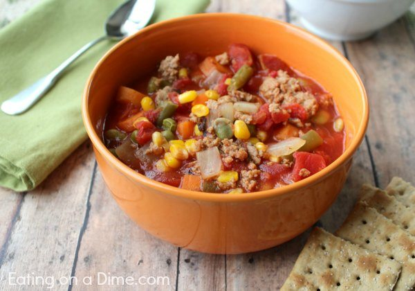 Looking for Ground Beef crock pot recipes? Here are 30+ ground beef recipes in the crockpot that you are going to love. Try these easy and frugal meals.