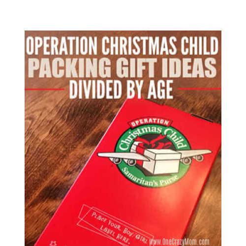 Samaritan's Purse Operation Christmas Child Gift Ideas