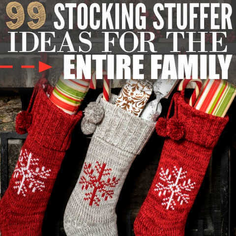 We have the Best Christmas Stocking Stuffer Ideas for the entire family.  Find frugal Christmas Stocking Stuffer ideas for kids, teenagers and even adults!