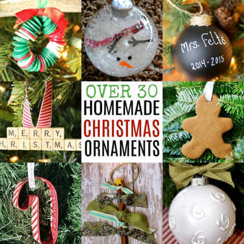 Over 30 Homemade Christmas Ornaments
