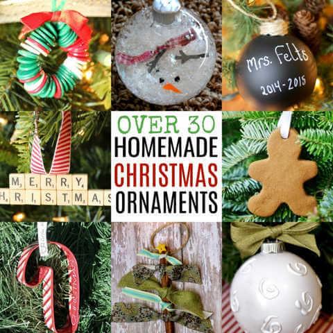 Over 30 Homemade Christmas Ornaments