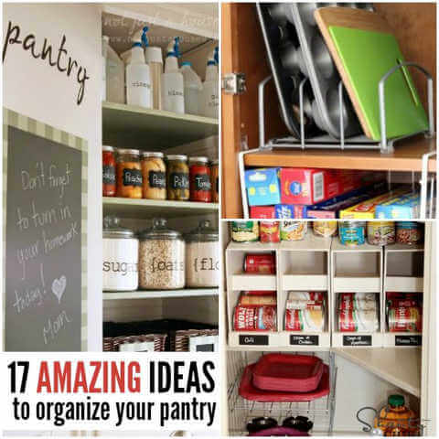 Pantry organization ideas do not have to cost a fortune. Learn How to organize your pantry with these 17 easy pantry organization ideas.