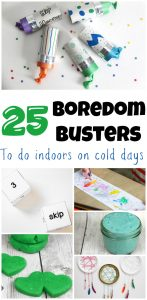 what to do when bored for kids. Here are 25 boredom busters to keep your kids from getting bored when it is cold outside. Easy Kids activities.