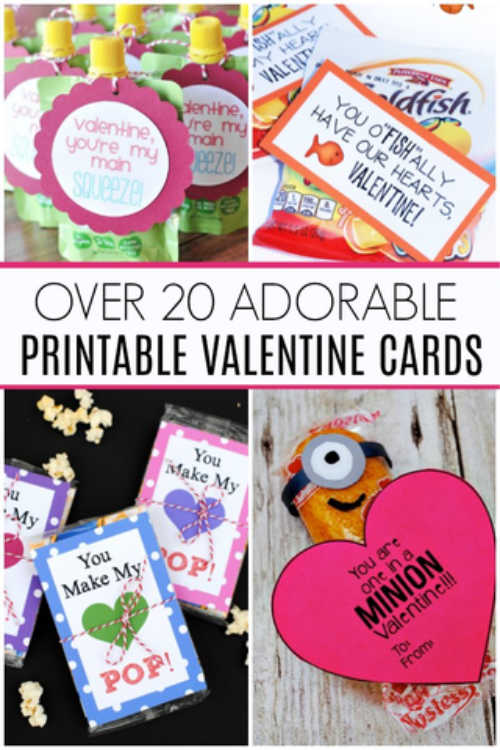 image relating to Printable Valentine Day Cards for Kids referred to as No cost printable Valentines Working day playing cards for small children - Cost-free