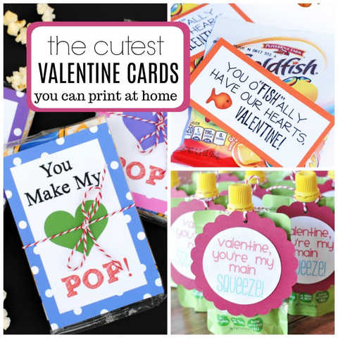 25 Fun Printable Valentine's Day Cards for Kids