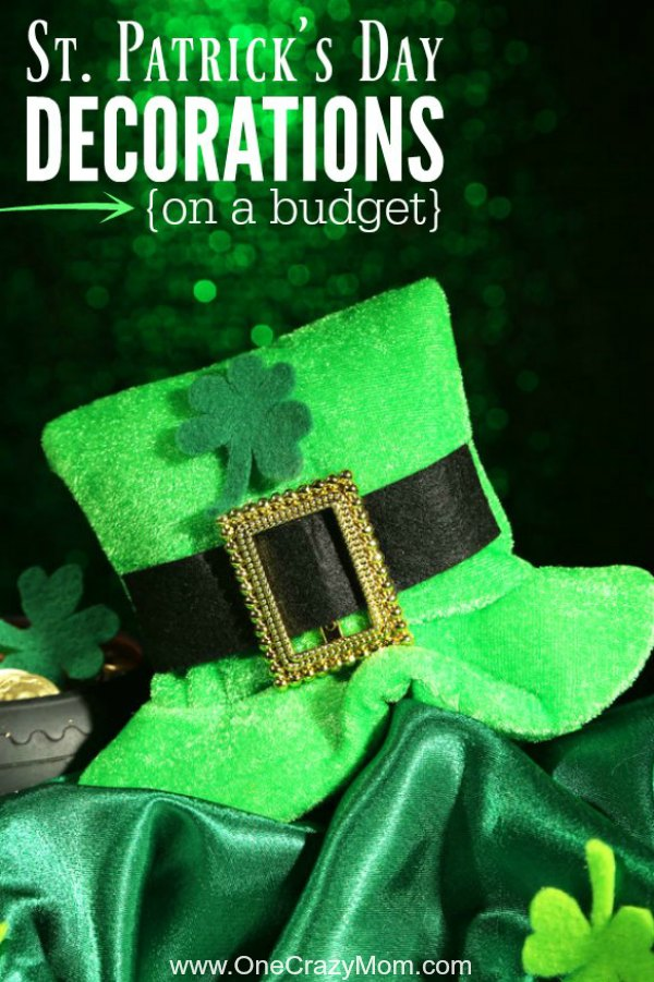 Here are 25 St. Patrick's Day Decorations that you can get on a budget. Don't spend too much on your St. Patrick's Day Decorations for kids with this roundup.25 Shamrock decorations.