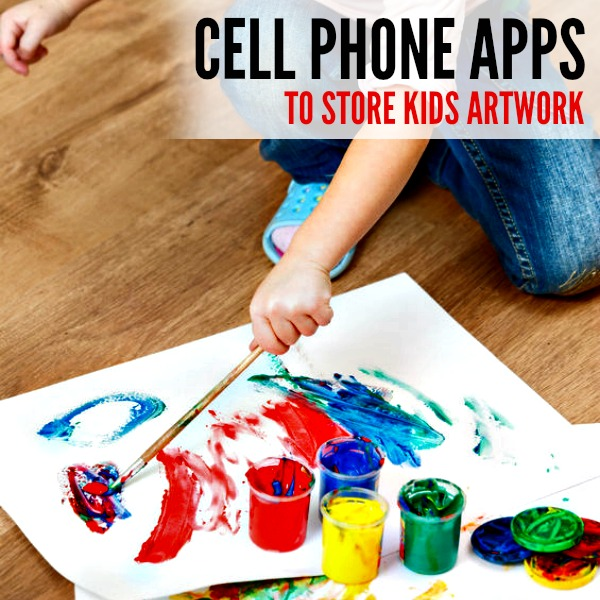 Apps for Kids Art Storage - Here are 5 Amazing Cell Phone Apps to store Kids Artwork. Save all your kids papers and art with these cell phone apps.