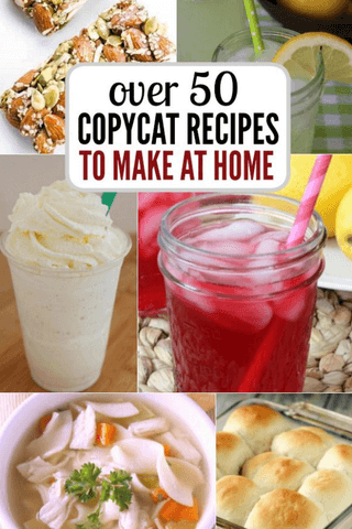 Here are over 50 quick and easy copycat recipes you will love. Try one of the best Copycat Restaurant recipes to make at home. Plus, save money! These are so delicious!