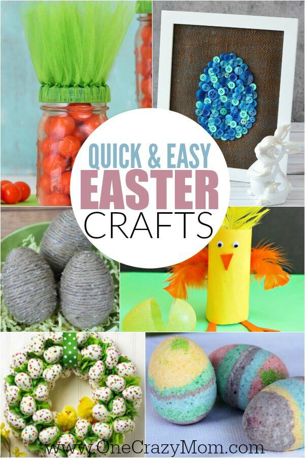 Try some of these quick and easy Easter crafts for kids. The ideas are endless and fun for the entire family. Find 20+ easy Easter crafts.