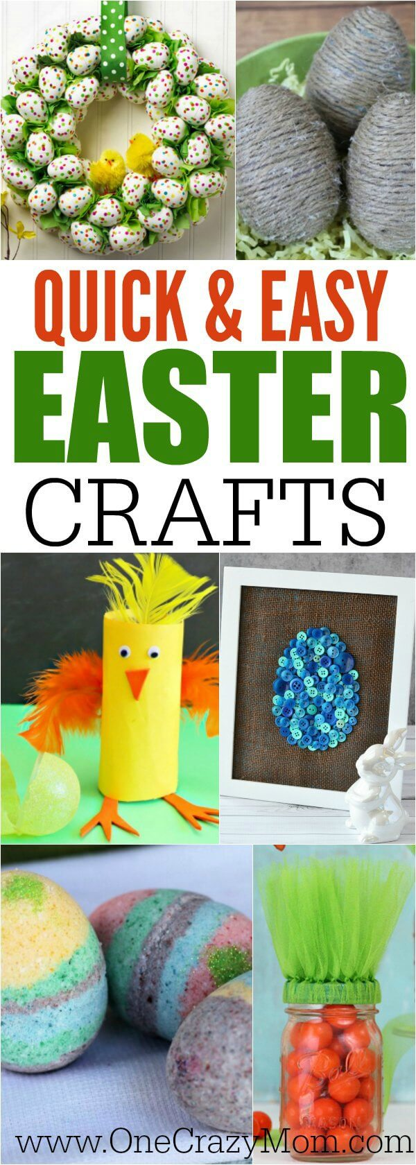 Try these quick and easy Easter crafts for kids and adults! You can easily make these Easter crafts in just minutes without spending a lot of money.Over 20 ideas that are perfect to make for Easter.