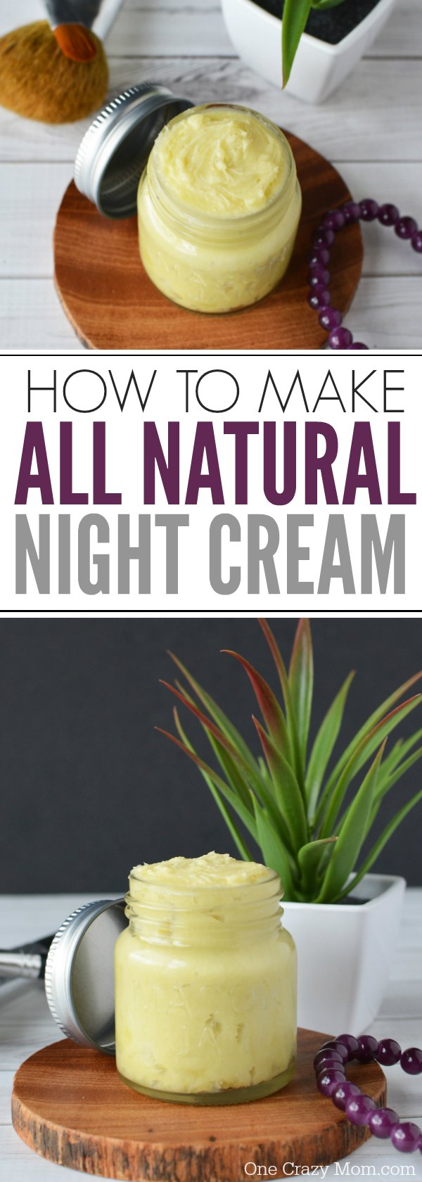 DIY Night Cream only requires a few simple ingredients but the results are amazing. If you struggle with dry skin, give this homemade night cream a try.