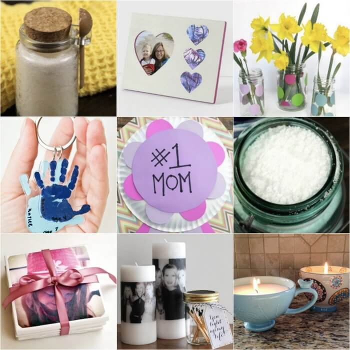 Here are some easy homemade mothers day gifts ideas that you can make with the kids. These are the best homemade mothers day gifts! Mother's day homemade gifts would also be great for grandma! Everyone will love these cute homemade mothers day gifts.