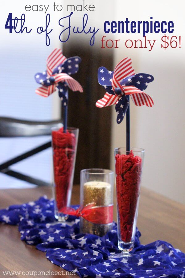 We have simple and easy 4th of July decorations. All you need is some red, white, blue, and a little creativity to make these amazing patriotic decorations.