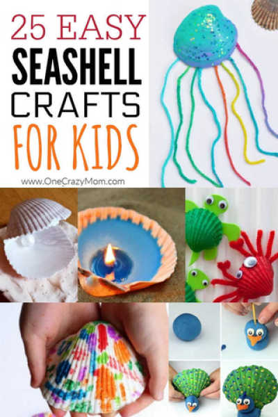 Summer is here and we have 25 adorable seashell crafts for kids. This is such a fun activity to keep the kids busy. Plus, seashells are inexpensive or free.