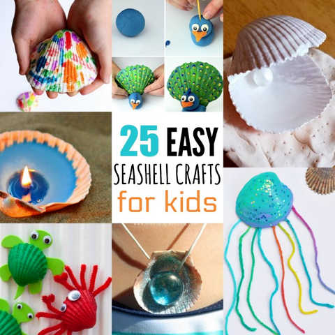 25 Adorable Seashell Crafts for Kids